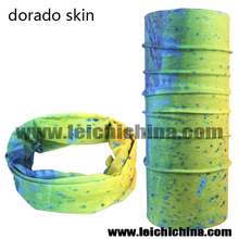 Popular dorado skin seamless fishing scarf