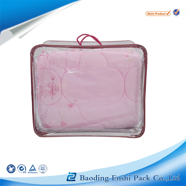 2014 newest hot selling pvc blanket/quilt/pillow/car seat cushion/bed sheets bag with handle wholesale