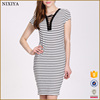 Exquisite Striped Fashion Casual Summer Wear Dress For Woman