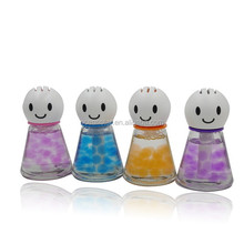55ml lovely dolls auto Glass Bottle liquid air freshener with beads