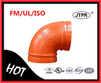 Hot Sale Fire Protection FM UL Grooved Pipe Fittings 90 Degree Elbow