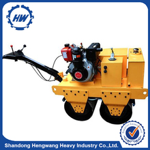 Gasoline engine HWL-650 Double Drum Vibratory compactor machine price road roller