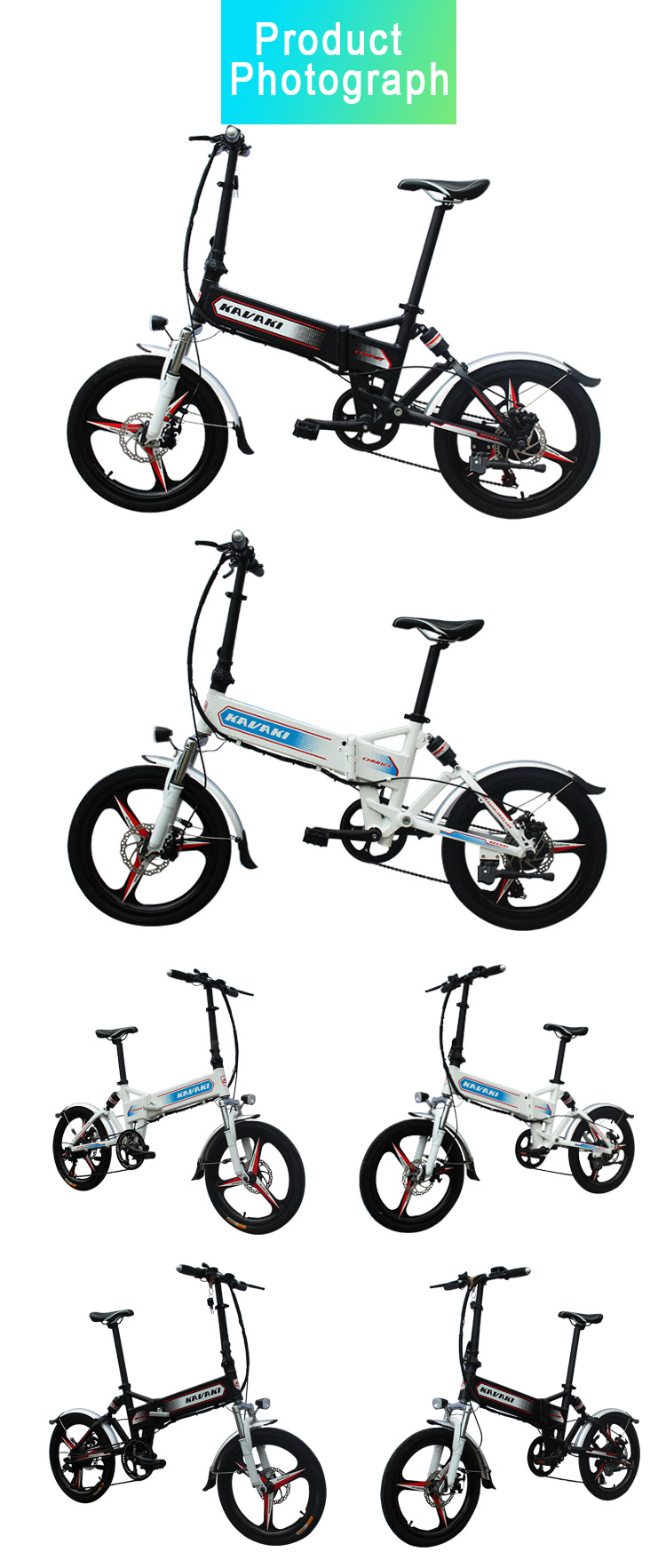 Guangzhou Factory fashion design Pedal 20 inch tyre folding alloy wheel disc brake 48V20Ah electric city E-bike