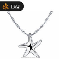 <<<Newest Fashion Trendy Style Pentagram Shaped 925 Sterling Silver Pendant Necklace /