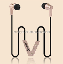 sport stereo in earbud bluetooth earphone,wireless bluetooth headset x5tech hot sale zipper earphone for mobile phone