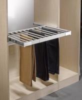 Push-pull telescopic drawer slide clothes rack