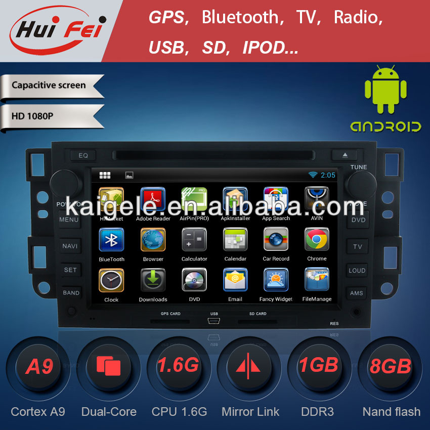 Huifei pure Android stereo in Car CD DVD audio Player for Chevrolet Captiva with GPS 3G WIFI steering wheel control canbus