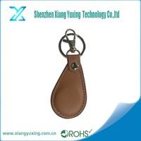 LF 125KHZ passive customized bulk leather key fob / key chain