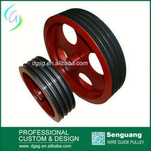Multi Groove Painting Split Wire Pulley For Wire Drawing Machine, Coating Ceramic leading Pulley,Electric Cable Pulley