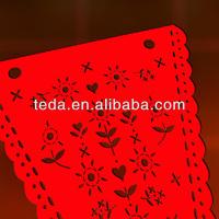 2014 laser cut paper bunting flag banner
