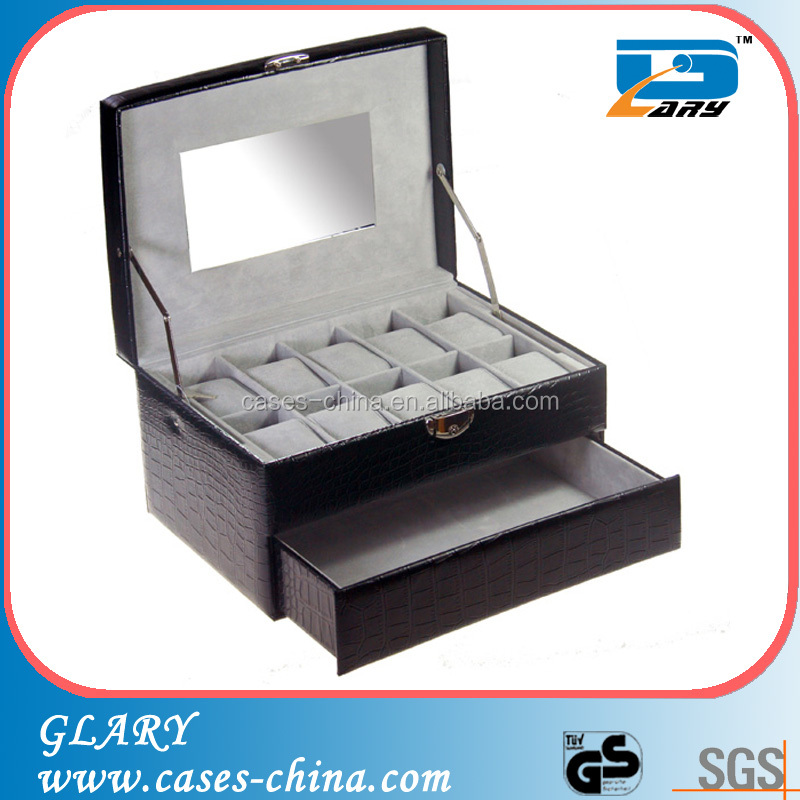 Latest PU display Leather Watch Box wholesale