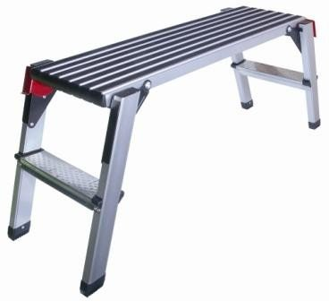 Step Stool and Working Platform 350 Lbs. Capacity Foldable Anodized Aluminum