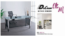 Dechuan new design executive office desk with glass table top