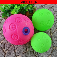 TOY-016 New Dog Snacks Ball Toys/ Pet Rubber Snack Ball/2015 newest style Snack Pet Ball