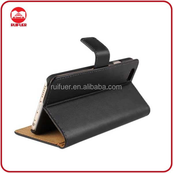 China Factory Wholesale High Quality With Credit Card Slots Smart Stand Flip Wallet Leather Case Cover for Iphone 6