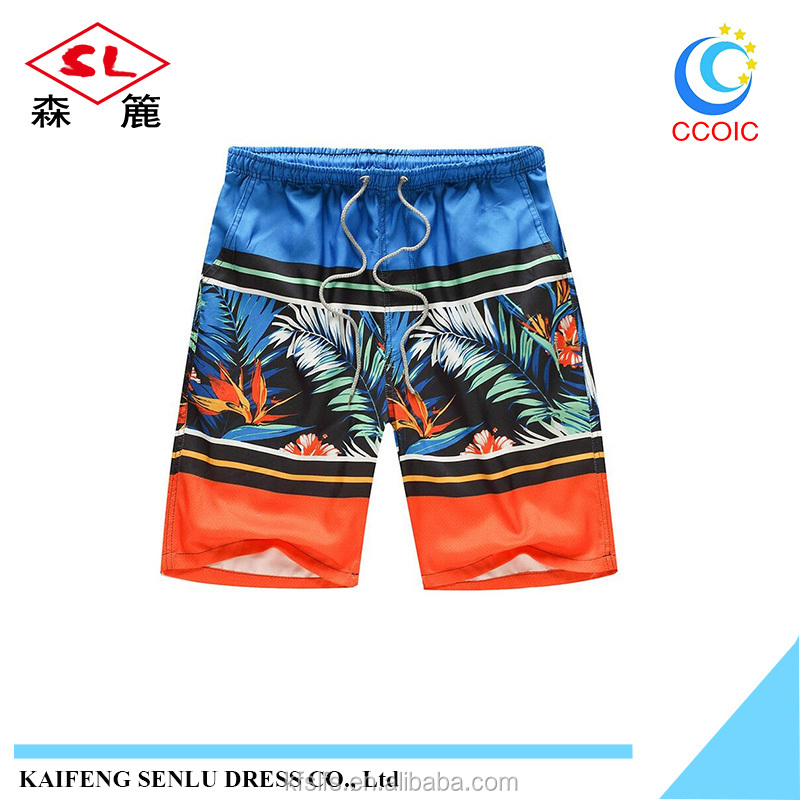 Summer Beach Wear Printing Young Short Pant quick-drying Men Shorts Beach Pants Five Casual Pants