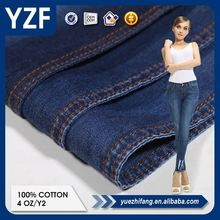 High-end 100% Cotton Fabric cheap price textile denim clothing fabric