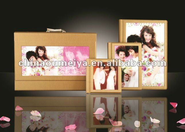 pu/leather wedding photo album case and cover