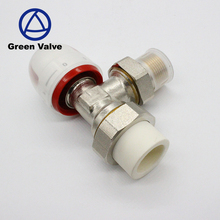 Green-GutenTop PPR pipe angle 90 degree hydraulic DN20 male thread 3/4'' Brass thermostatic radiator valve