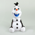 custom make snowman character coin saving money box,custom snowman shape plastic coin money box