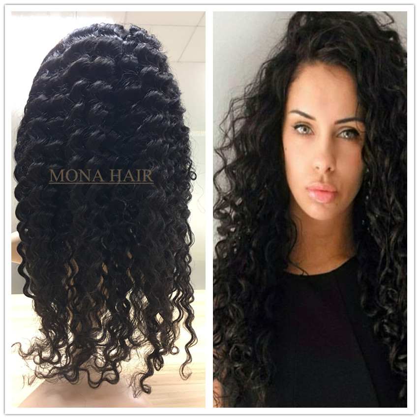 No chemical process minimum shedding OEM curly full lace wig vietnamese virgin hair