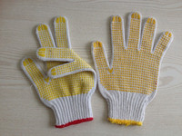 pvc dotted cotton knitted gloves /pvc dotted gloves/pvc dotted working gloves