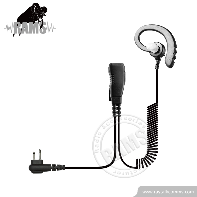 Two Wire Coiled Cable Comminication Earpiece Security Guard Earpieces for TH1N Radio