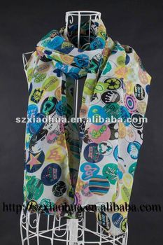 XH-1077 New summer 100% polyester Fashion scarf