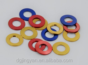 red washer bule washer yellow washer