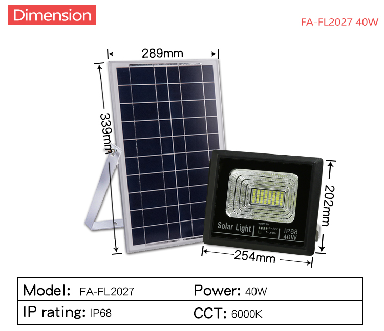 High brightness Dimmable Outdoor Ip65 Waterproof 40 50 60 100 w solar Led Flood Light