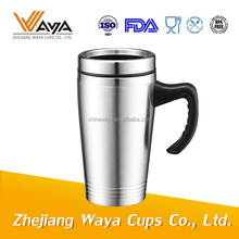 SGS approved double wall stainless steel travel mugs with handle
