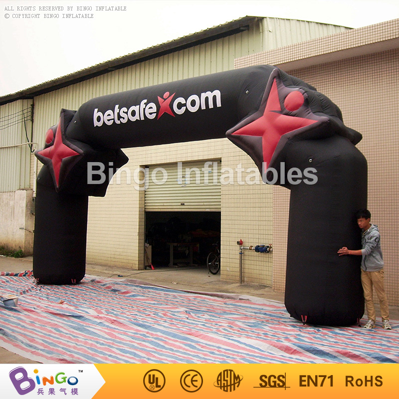 Sports games use advertising inflatable racing arches