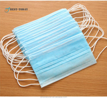 Disposable 3 ply 65g surgical non woven fabric face mask