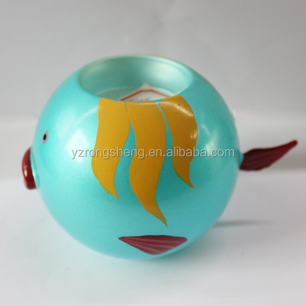 christmas ball round candle holder