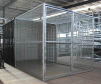Black Dog Enclosure Cage