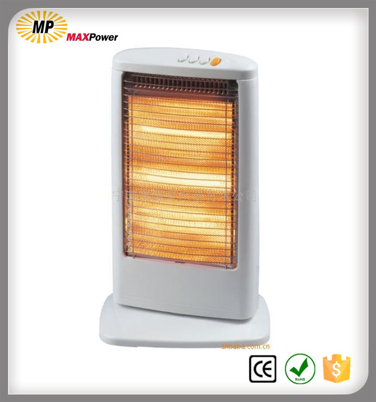Quartz/halogen room heater 800W/1200W with CE for EU market