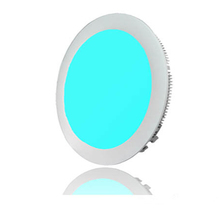 Colorful change rgbw round led panel light 20w with 2.4G remote