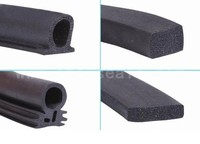 EPDM rubber foam seal strip double-sided adhesive weather striping
