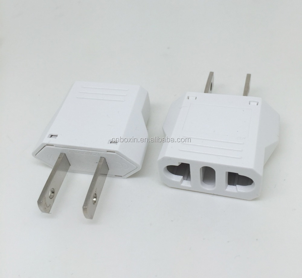 best selling products 2016 in usa 220v to 110v plug adapter CE certificate electrical plug Euro to USA travel power plug