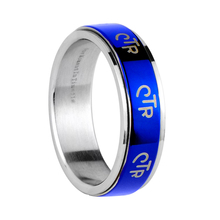 2015 new style blue plated titanium steel ring CTR spinner rings