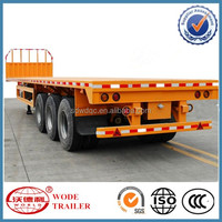 China Factory supply 40ft 3 axle cargo flat bed trailer
