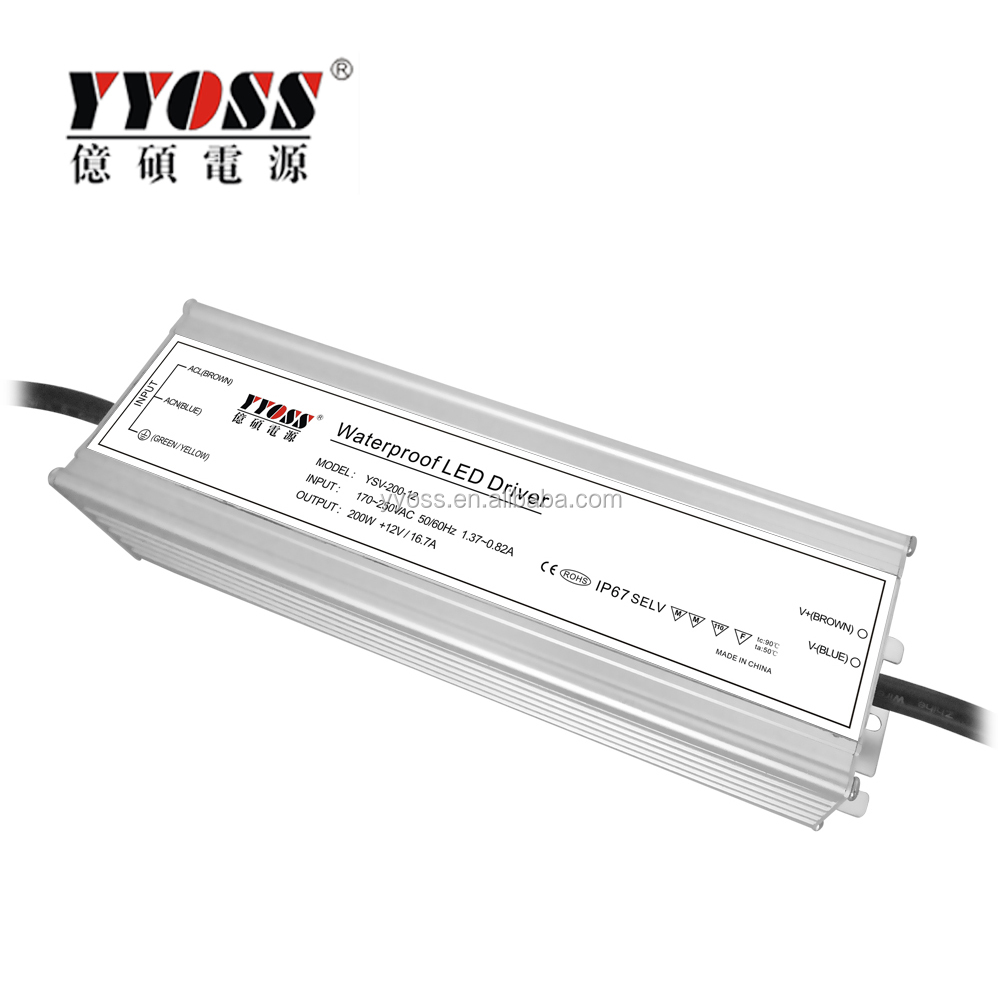 5 years warranty 30W 40W 60W 100W 120W 150W 200W 240W 12V 24V 36V dc waterproof LED driver, power supply