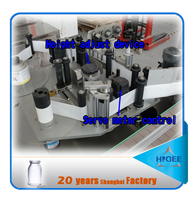 Automatic label applicator machine self adhesive plastic bottles
