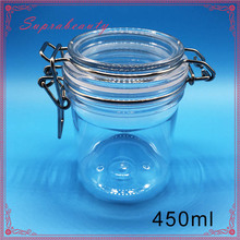 hot sell BPA Free plastic PET Kilner jars for confectionery nuts and spices