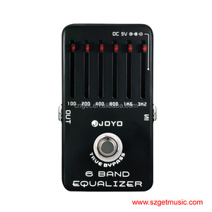 JF-11 EQ Equalizer 6-Band Professional Guitar Parts Effect Pedal True Bypass for Musical Instrument Electronic