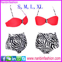 Wholesale the hottest zebra-stripe sex women animal bikini