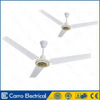 High efficiciency solar powered electric metal fan