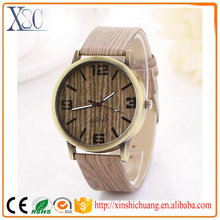 2016 New style fashion playboy quartz watch men wooden oem watches