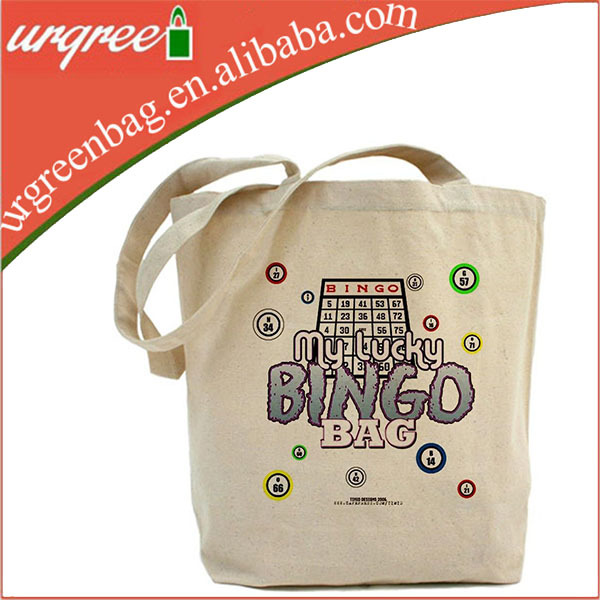 Canvas Tote Shopping Bags Bingo Bags With Large Pattern