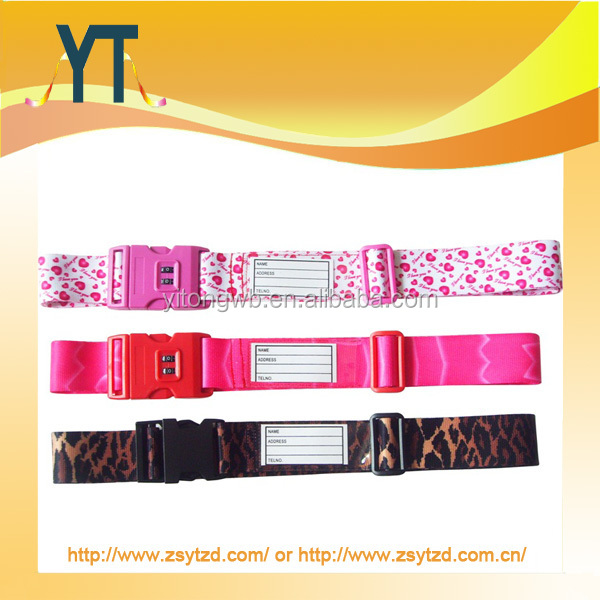 Personalized Beautiful & Practical Smile Luggage Strap Personalized Luggage Strap Custom Luggage Strap